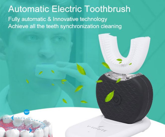 Automatic Toothbrush (360° Brushing, Cold Light Whitening)