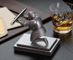 Executive Knight Pen Holder with a Pen