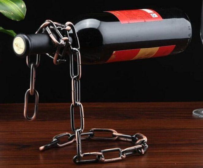 Floating Chain Wine Bottle Holder