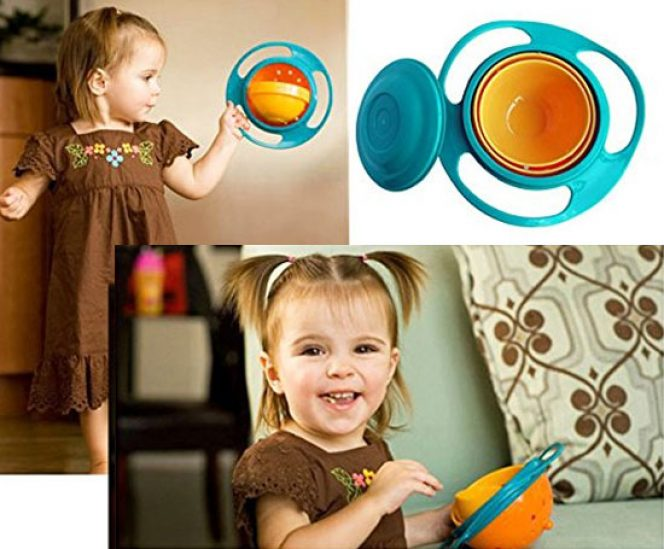 Baby 360 Dgree Rotation Spill-proof Gyroscope Bowl