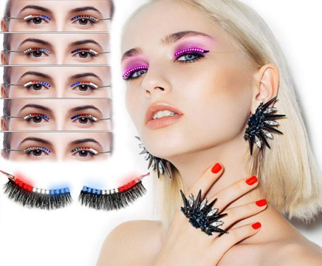 Sound Control LED Lashes (3 Colors 12 Flash Modes)