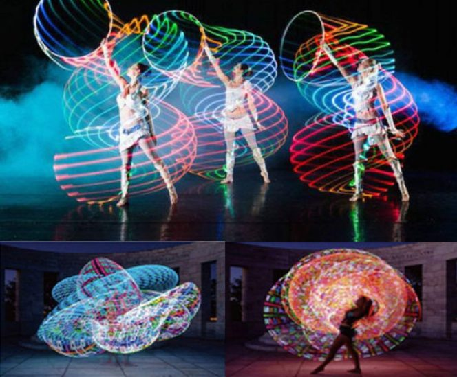 Glowing LED Hula Hoop  (36″, 24 Color Changing LEDs)