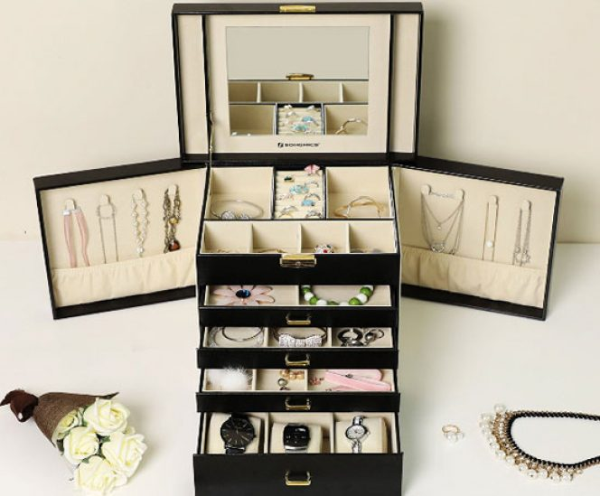 Large 5 Layers Jewellery Organizer with Drawers