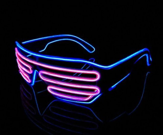 Neon LED Shutter Glasses