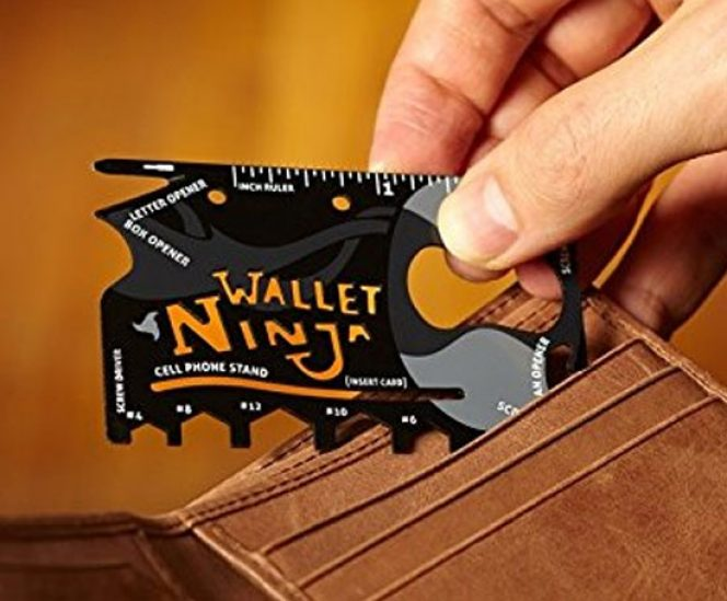 Wallet Ninja 18 in 1 Credit Card Size Pocket Tool