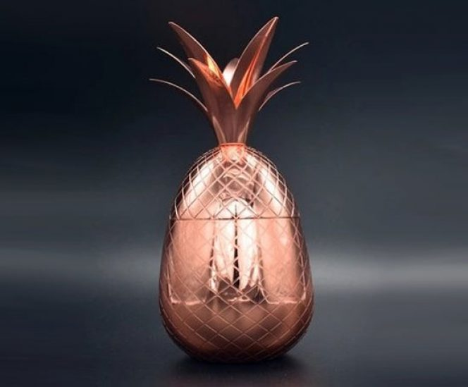 Pineapple Cocktail Mule (500ml, Stainless Steel & Copper )