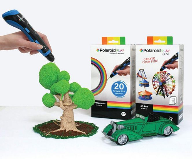 Polaroid 3D Play 3D Pen with PLA Starter Kit & Free App for Apple and Android