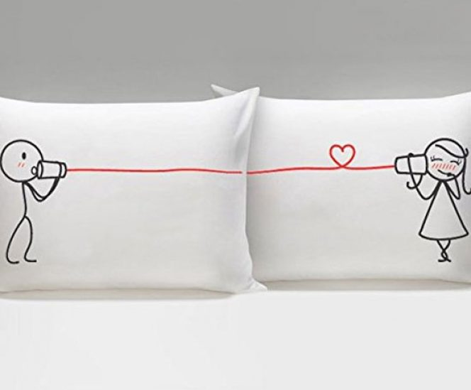 "Couples Matching Pillowcases –  ""Say I Love You"""