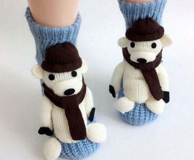 Non-slip Knit Sweater Warm Household Floor Socks