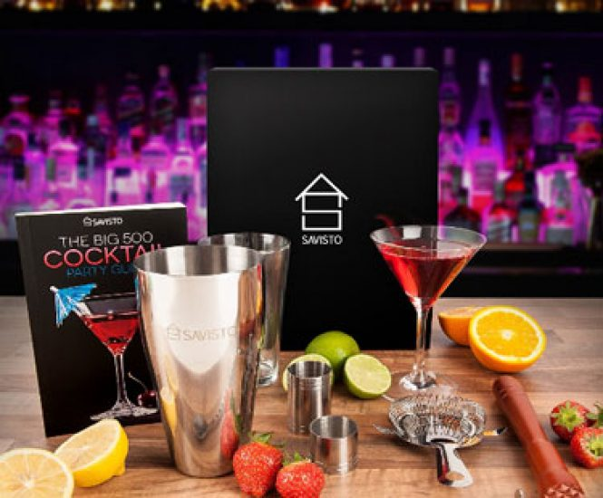 Premium 8 Piece Cocktail Set With Boston Cocktail Shaker