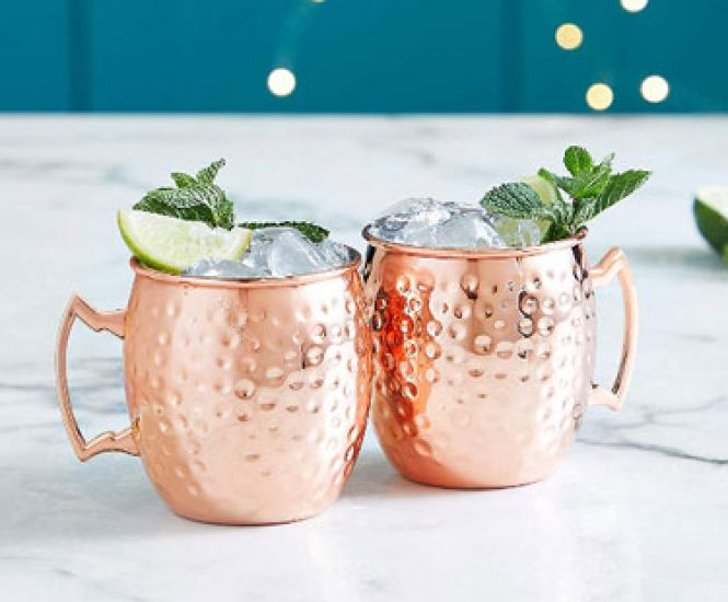 Moscow Mule Copper/Stainless Steel Mugs (Set of 2)