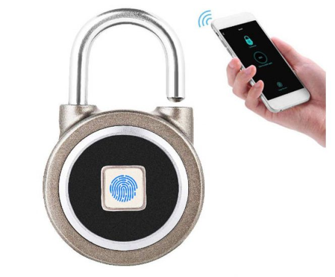 Fingerprint Padlock with Bluetooth Connection