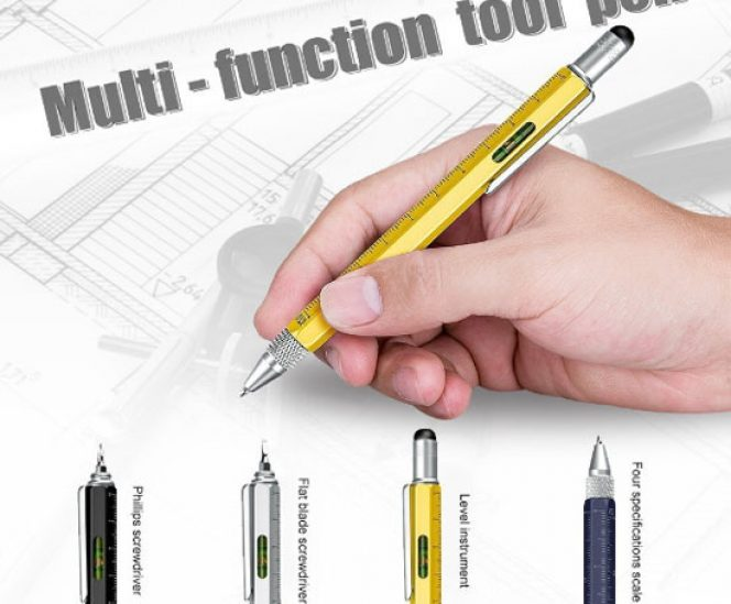 Super 6-in-1 Multifunction Pen Ruler