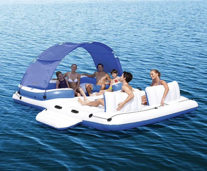Gigantic Floating Island with Canopy Shade (6 Person)