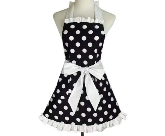 Polka Dot Retro Kitchen Apron