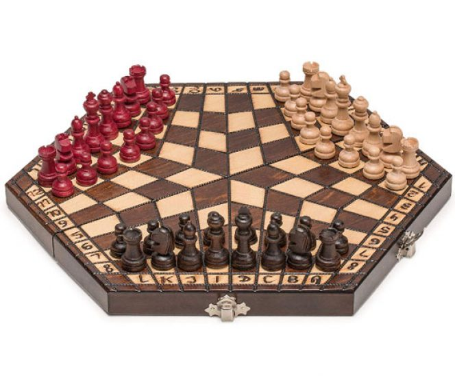 Wooden Three Player Chess