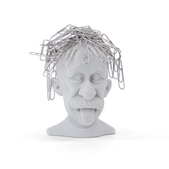 Genius Einstein Magnetic Paperclip Holder